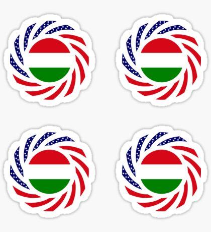 Hungarian American Multinational Patriot Flag Series Sticker