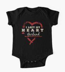 I Left My Heart In Garland Pride Short Sleeve Baby One-Piece