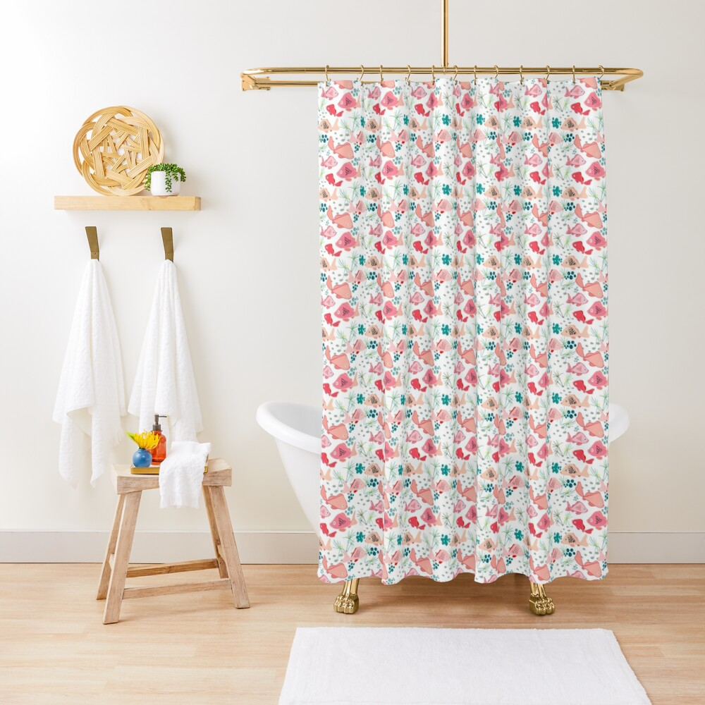 Origami Koi Fish Shower Curtain