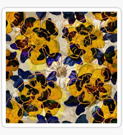 Floral Retro New Butterflies Glossy Sticker