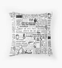 Billie lyrics b&w Throw Pillow