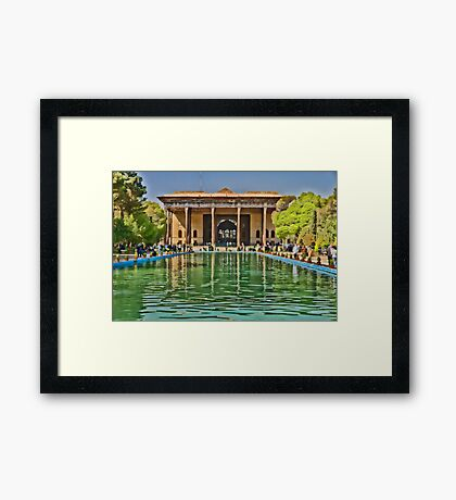 Upon Reflection - Chehel Sotoun - 40 Columns Palace - Esfahan - Iran Framed Print