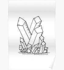 Crystal Cluster Poster
