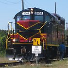 Cape Cod Canal's Trash Train Locomotive by Eric Sanford