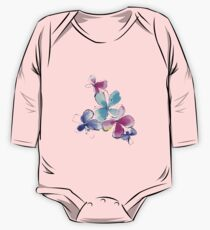 Colorful watercolor flowers One Piece - Long Sleeve