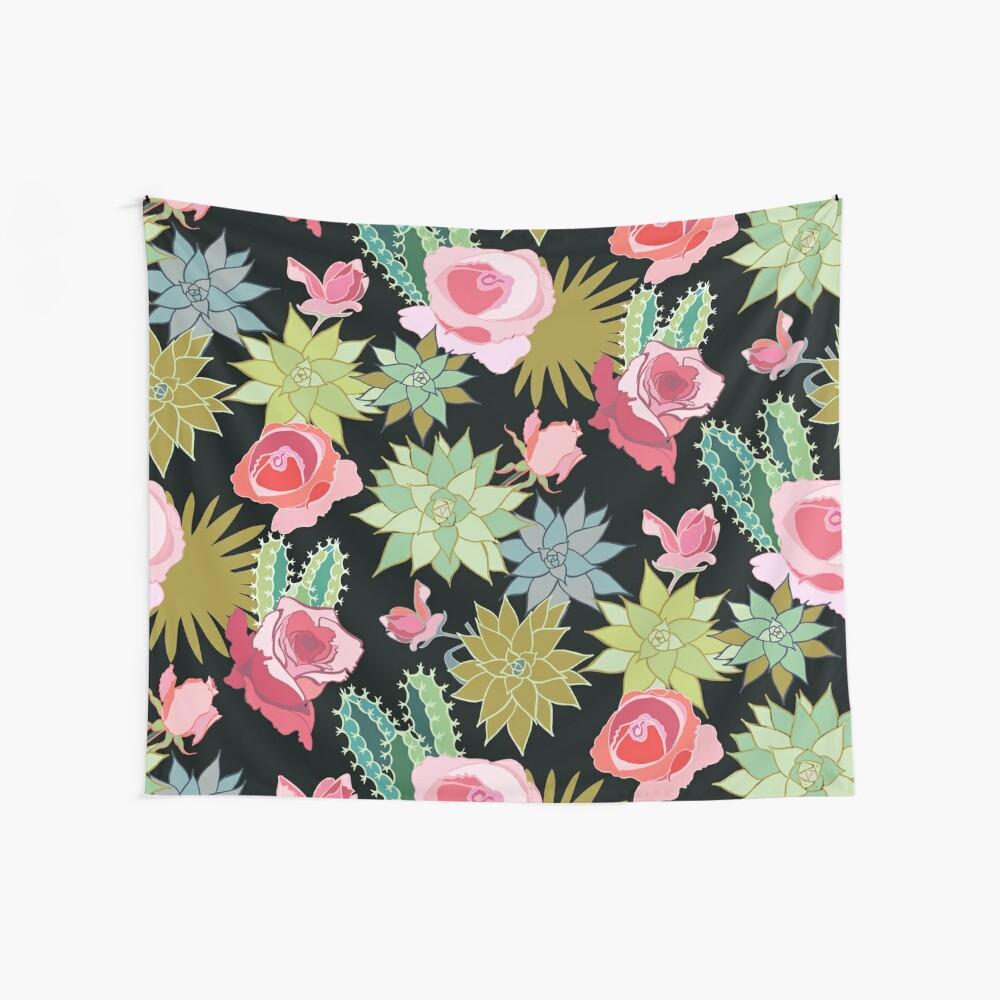 California Rose Garden Wall Tapestry