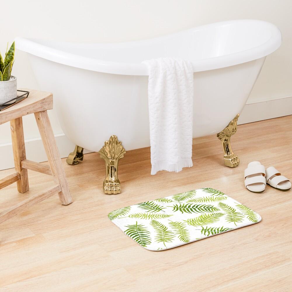 Fern Limelight Bath Mat