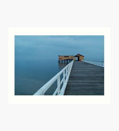 Twilight Mist, Queenscliff Pier Art Print