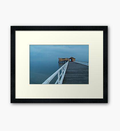 Twilight Mist, Queenscliff Pier Framed Print