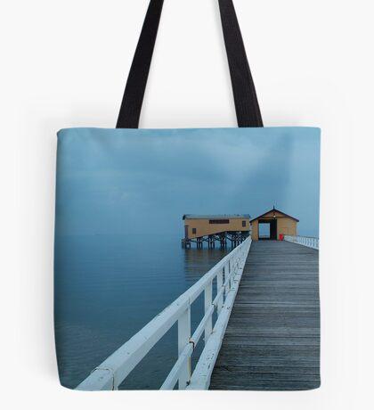 Twilight Mist, Queenscliff Pier Tote Bag