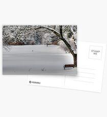 Snow on the 1st Tee Postcards