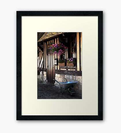 Beuvron en Auge doorway Framed Print