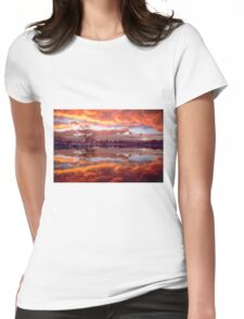Rolling Thunder Sunset Womens Fitted T-Shirt