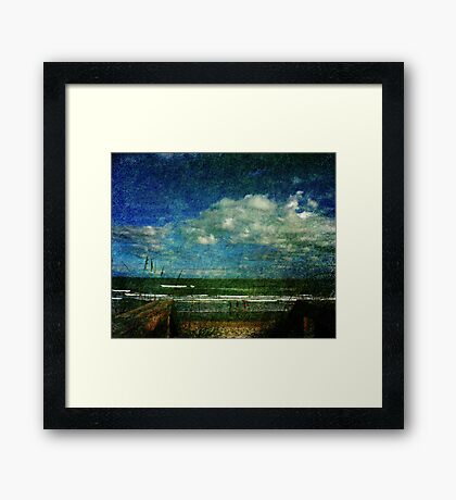 A day at the beach... Framed Print