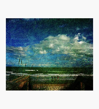 A day at the beach... Photographic Print