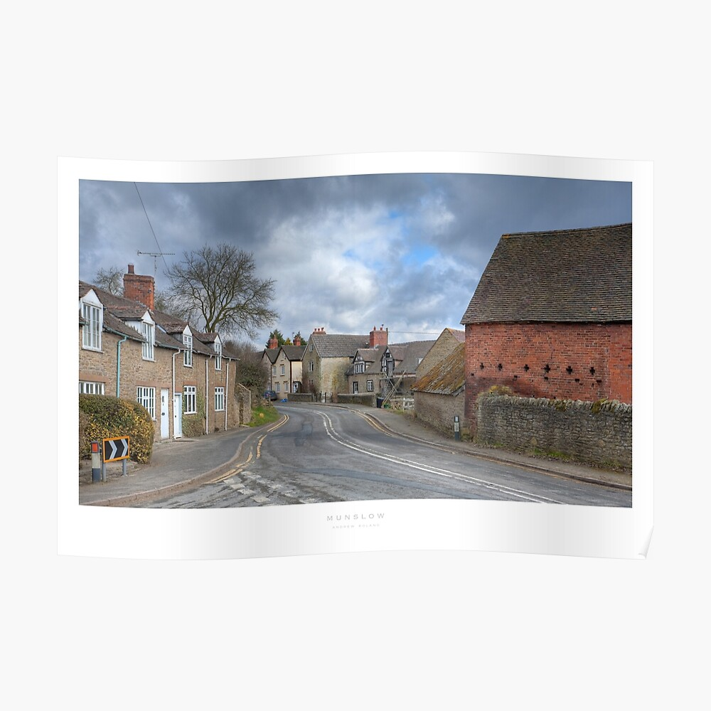 Munslow, Shropshire Poster