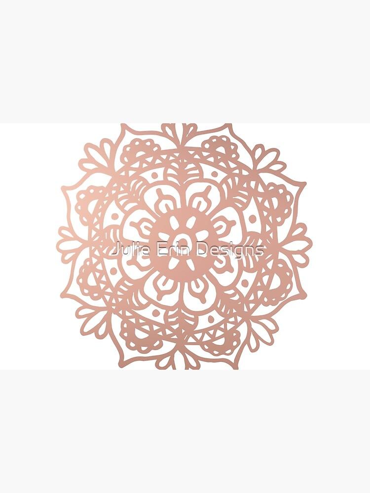 Rose Gold Mandala Redux by julieerindesign