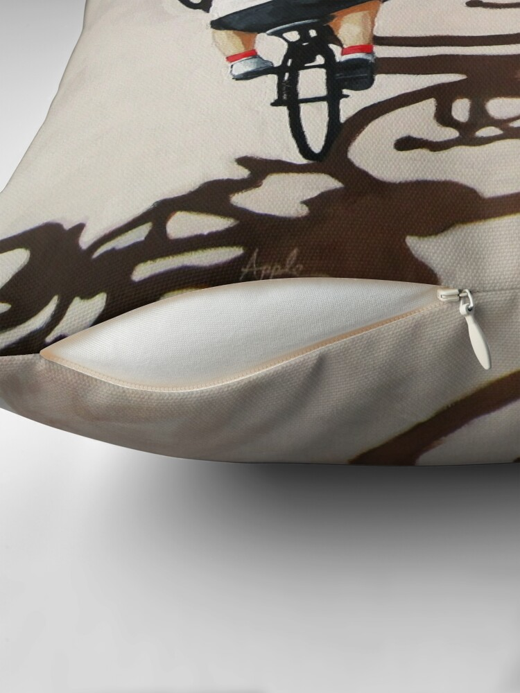 Alternate view of The Cycle Ride 2 - cycling art Throw Pillow