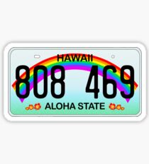 Hawaii license plate Sticker