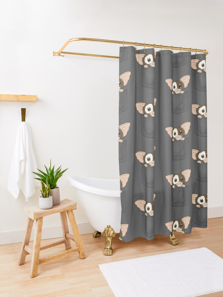 Alternate view of Pocket Monster Shower Curtain