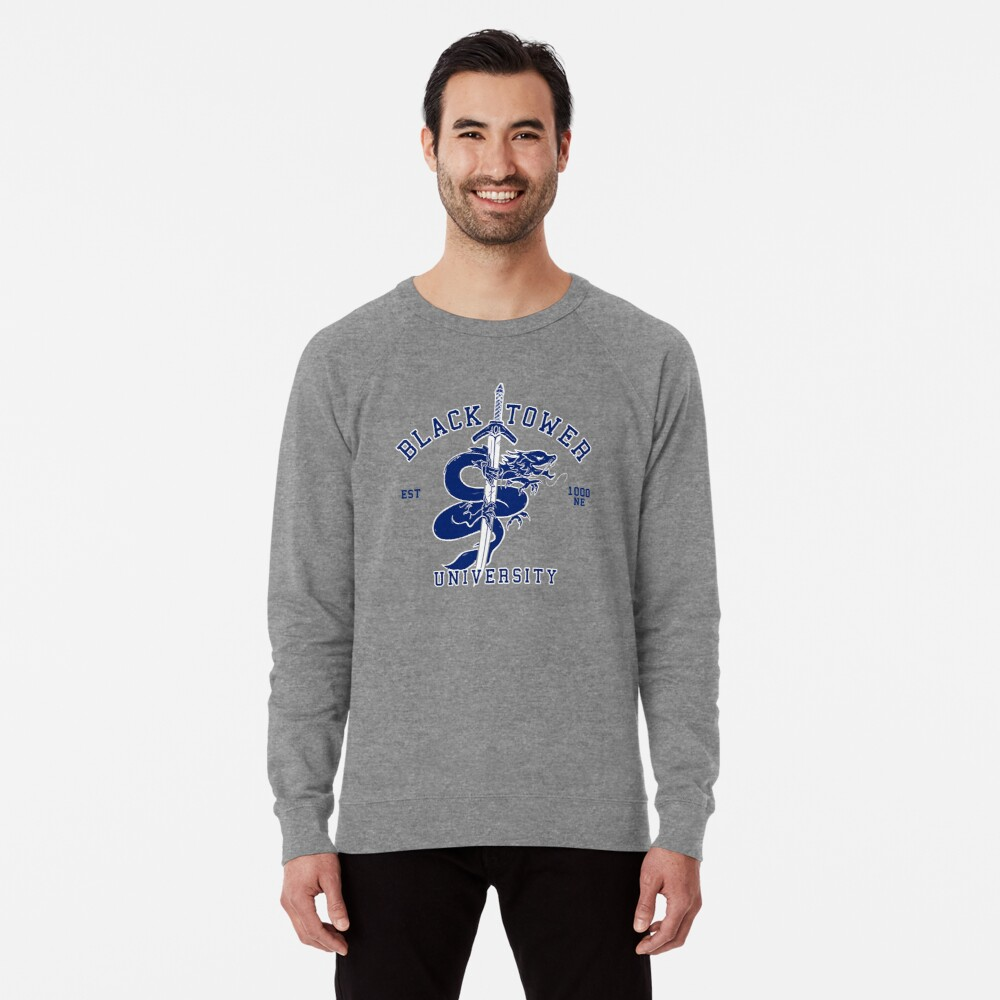 Black Tower University Lightweight Sweatshirt
