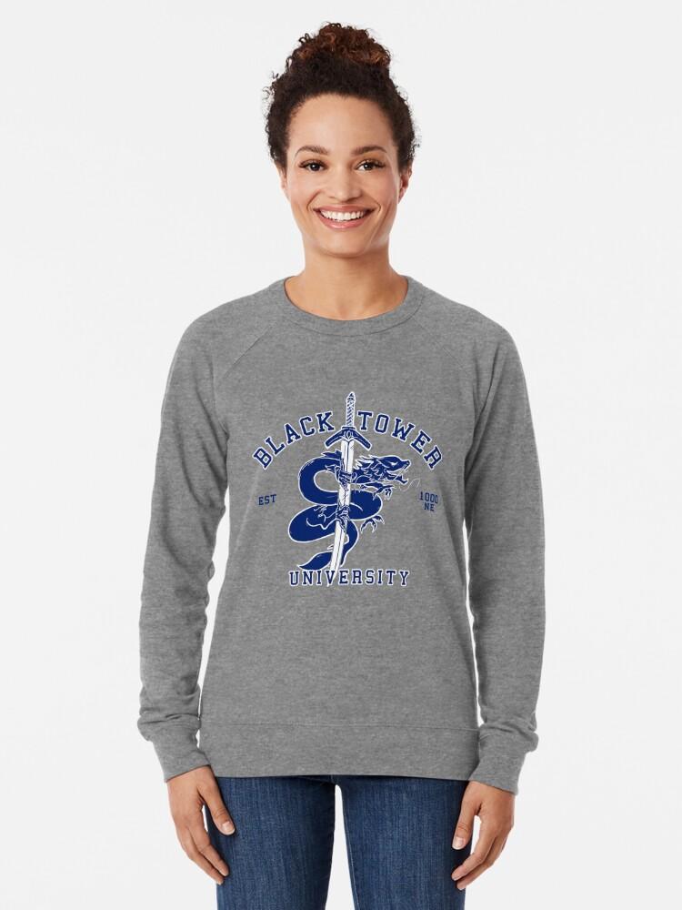 Alternate view of Black Tower University Lightweight Sweatshirt