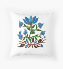 Burst of Blue Flowers Throw Pillow