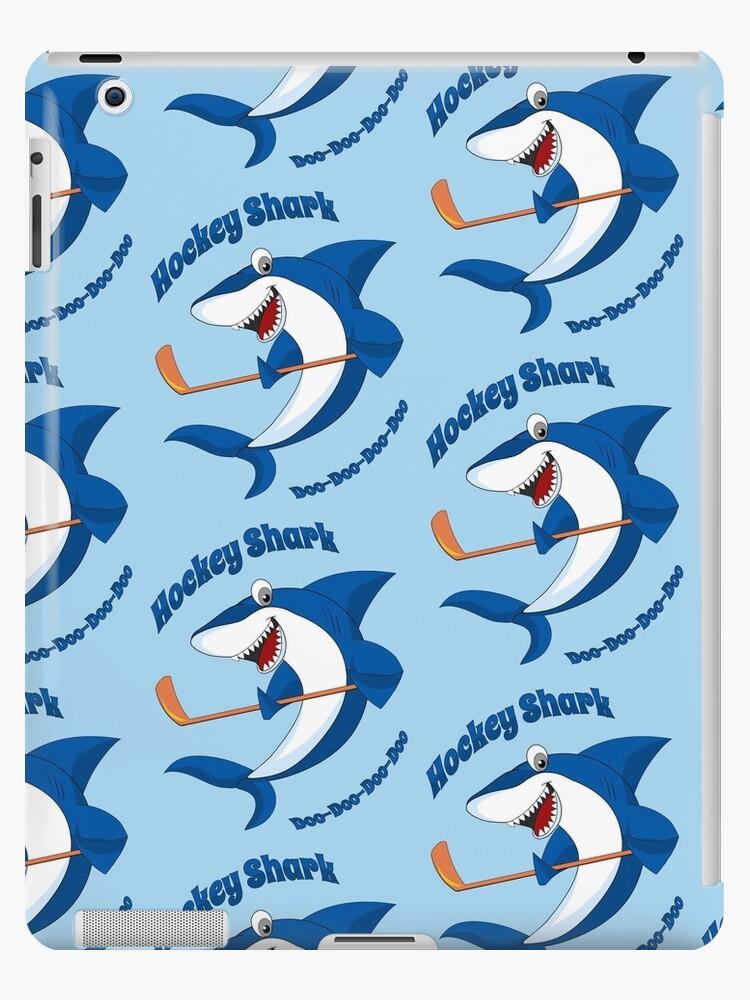 Funny Hockey Shark Cartoon For Kids Ipad Case Skin By Funny Hockey Redbubble