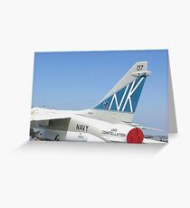Tail Art - USS Constellation Greeting Card