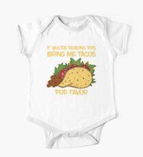 If You're Reading This Bring Me Tacos Por Favor Baby Body Kurzarm