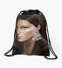 Silver Drawstring Bag