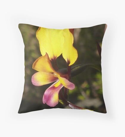 Donkey Orchid Throw Pillow