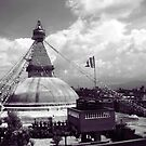 Boudha Stupa, view from cafe du temple by TristanPhoenix