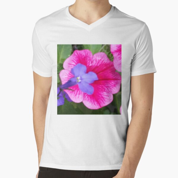 Purple and Pink Bloom Collection V-Neck T-Shirt