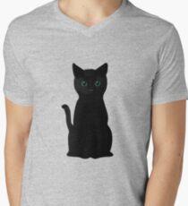 Kitten Eyes Men's V-Neck T-Shirt