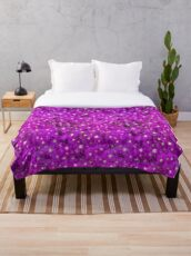 Tantalizing Purple Flower Power Throw Blanket