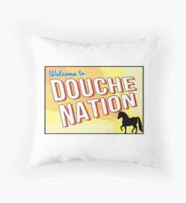 Welcome To Douche Nation Throw Pillow