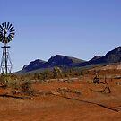 Wind Pump in the Australian Outback by John Wallace