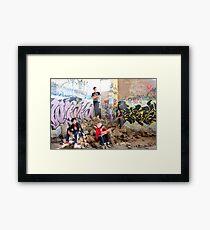 Sydney Rockstarz among the rubbles Framed Print