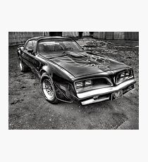 Black and White Trans Am  Photographic Print