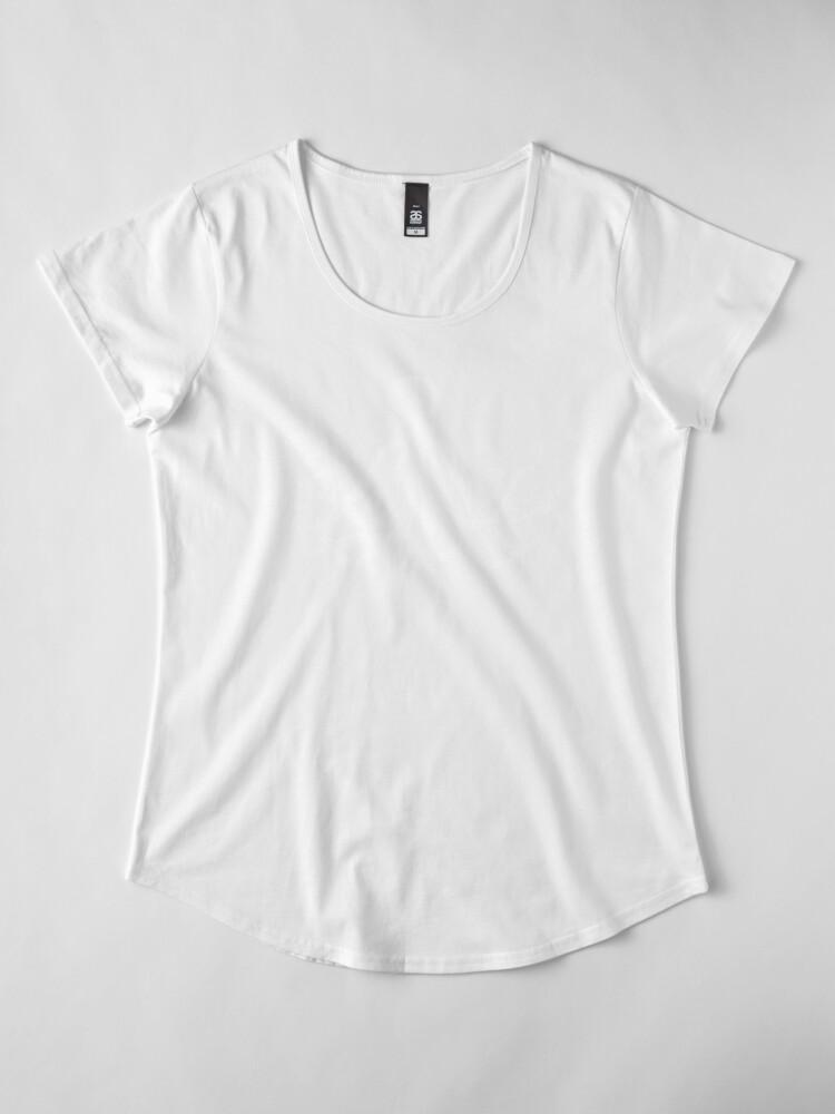Alternative Ansicht von Krake   Weinlese-Krake   Tentakeln   Meeresbewohner   Nautik   Ozean   Meer   Strand   Schwarz und weiß   Premium Rundhals-Shirt