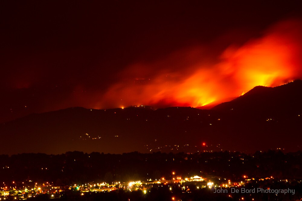 Burning Skies Above Boulder by John  De Bord Photography