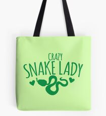 CRAZY Snake lady Tote Bag