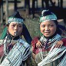 Karen hilltribe girls in traditional dress by John Spies