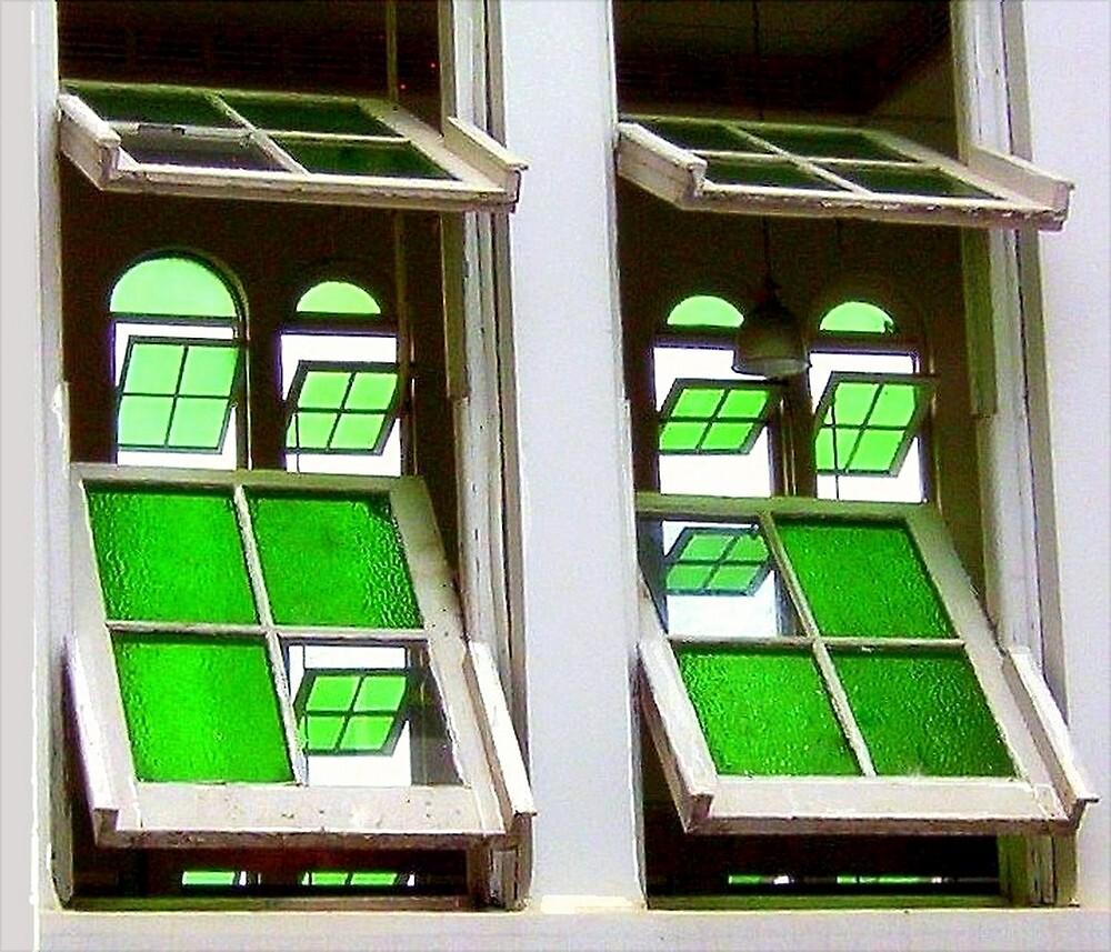 Green Glass Views Green Glass Windows by paintingsheep