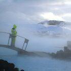 Lifeguard at Blue Lagoon, Iceland by chipster