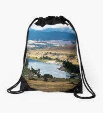 The Flathead River at Moiese, Montana, USA Drawstring Bag