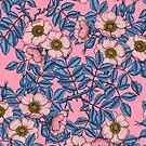 Dog rose pattern by Katerina Kirilova