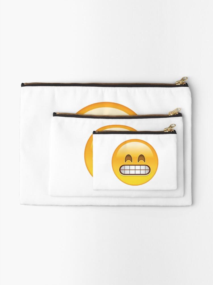 grin emoji | Zipper Pouch