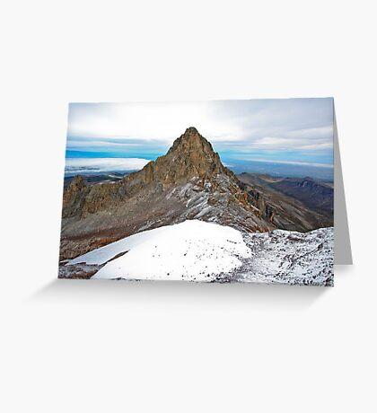 Mount Kenya - Looking North-West towards Nelion Greeting Card